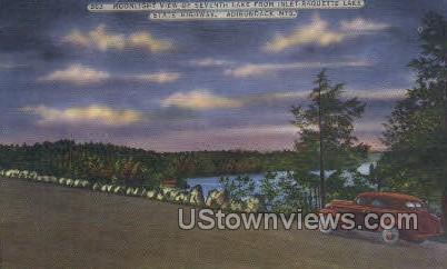 Inlet-Raquette Lake - Adirondack Mts, New York NY Postcard