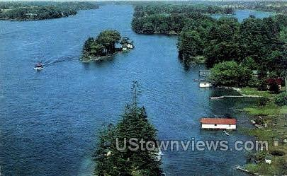 St. Lawrence River - Thousand Islands, New York NY Postcard