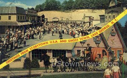Storytown, Ghost Town - Lake George, New York NY Postcard