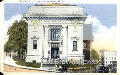 Bank for Savings - Ossining, New York NY Postcard