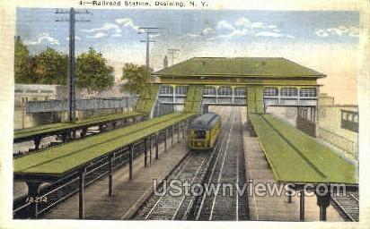 Railroad Station - Ossining, New York NY Postcard