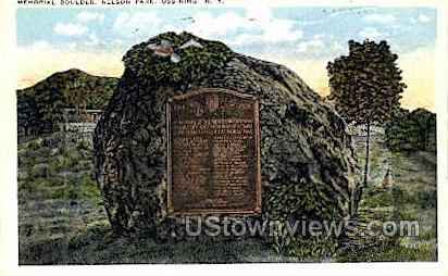 Memorial Boulder, Nelson Park - Ossining, New York NY Postcard