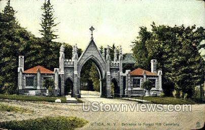 Forest Hill Cemetery - Utica, New York NY Postcard