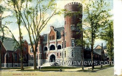 Armory - Utica, New York NY Postcard