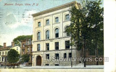 Masonic Home - Utica, New York NY Postcard
