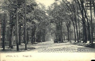 Rutger St. - Utica, New York NY Postcard