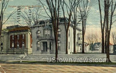 Knights of Columbus Hall - Utica, New York NY Postcard
