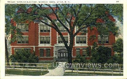 Knight Templar Bldg, Masonic Home - Utica, New York NY Postcard