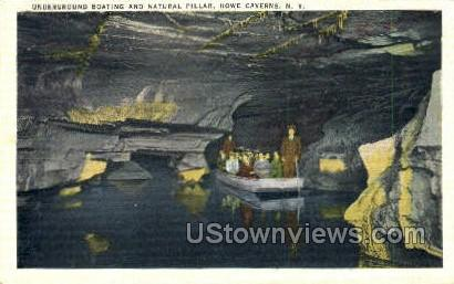 Natural Pillar - Howe Caverns, New York NY Postcard