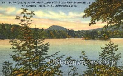 Black Bear Mountain - Inlet, New York NY Postcard