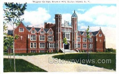Wagner College, Grymes Hill - Staten Island, New York NY Postcard