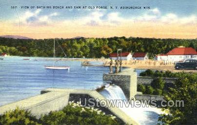 Adirondack Mts - Old Forge, New York NY Postcard