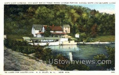 Sixth Lake Landging - Inlet, New York NY Postcard
