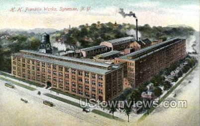 H.H. Franklin Works - Syracuse, New York NY Postcard