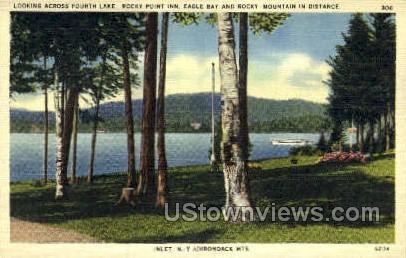 Adirondack Mts - Inlet, New York NY Postcard