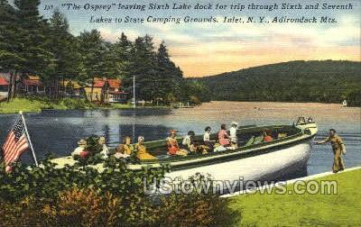 The Osprey, Sixth Lake Dock - Inlet, New York NY Postcard
