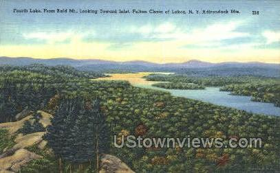 Fulton Chain of Lakes - Inlet, New York NY Postcard