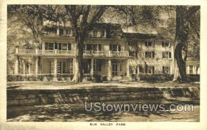 Elm Valley Farm - Bedford, New York NY Postcard