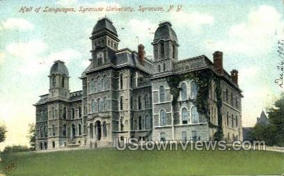 Hall of Languages, Syracuse U - New York NY Postcard