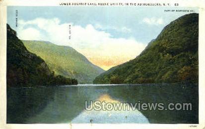 Keene Valley - Adirondack Mts, New York NY Postcard