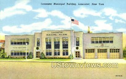 Lancaster Municipal Bldg - New York NY Postcard