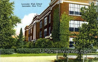 Lancaster High School - New York NY Postcard