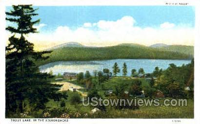Trout Lake - Adirondack Mts, New York NY Postcard