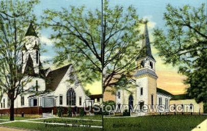 First Presbyterian Church  - Franklinville, New York NY Postcard