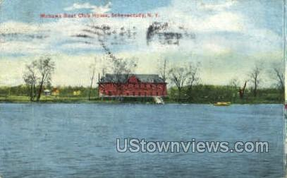 Mohawk Boat Club House - Schenectady, New York NY Postcard