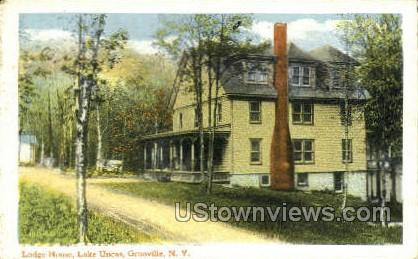 Lodge House, Lake Uncas - Grooville, New York NY Postcard