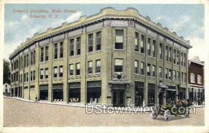Green's Bldg, Main Street - Liberty, New York NY Postcard
