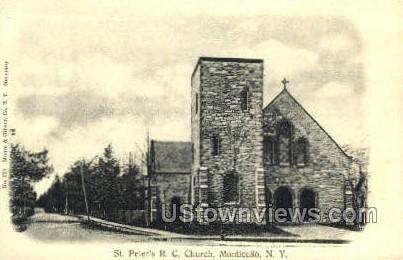 St. Peter's R.C. Church - Monticello, New York NY Postcard