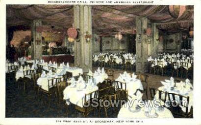 Knickerbocker Grill - New York City Postcards, New York NY Postcard