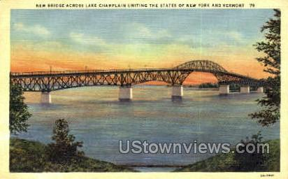 Lake Champlain - Misc, New York NY Postcard