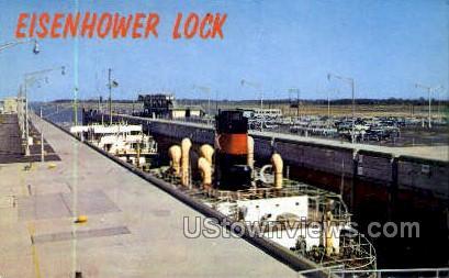 Eisenhower Lock - Massena, New York NY Postcard