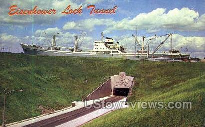 Eisenhower Lock Tunnel - Massena, New York NY Postcard