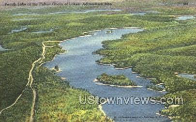 Fulton Chain of Lakes - Adirondack Mts, New York NY Postcard