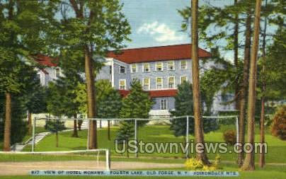 Hotel Mohawk - Old Forge, New York NY Postcard