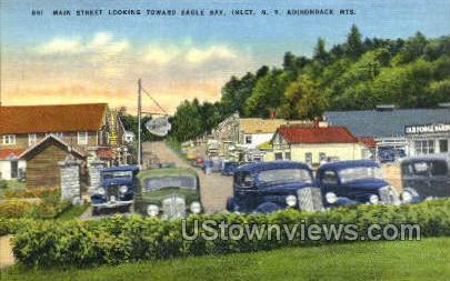 Main Street - Inlet, New York NY Postcard