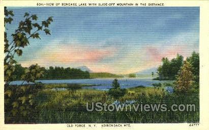 Rondaxe Lake - Old Forge, New York NY Postcard