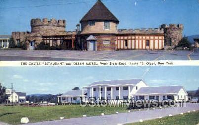 The Castle Restaurant - Olean, New York NY Postcard