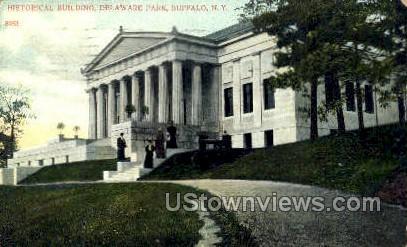 Historical Bldg, Delaware Park - Buffalo, New York NY Postcard