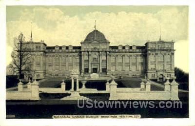 Botanical Garden Museum - Bronx Park, New York NY Postcard