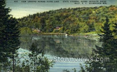 Fifth Lake, Adirondack Mts - Inlet, New York NY Postcard