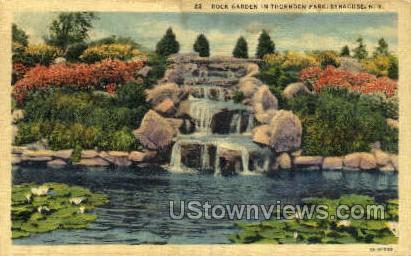 Rock Garden, Thornden Park - Syracuse, New York NY Postcard