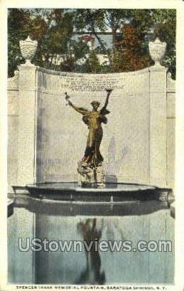 Spencer Trask Memorial Fountain - Saratoga Springs, New York NY Postcard