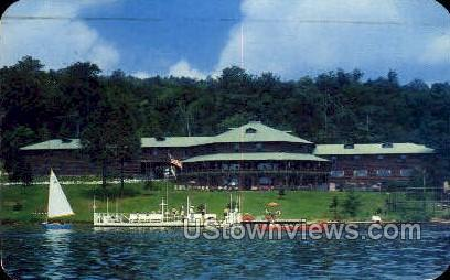 First Lake - Old Forge, New York NY Postcard