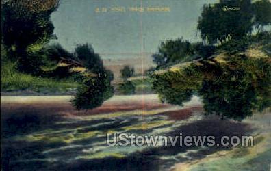 Mohawk River - Utica, New York NY Postcard