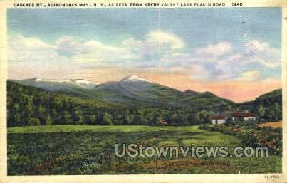 Cascade mt. - Adirondack Mts, New York NY Postcard