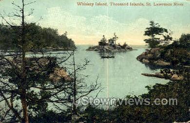 Whiskey Island - Thousand Islands, New York NY Postcard
